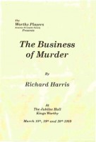 1999 The Business Of Murder Progamme