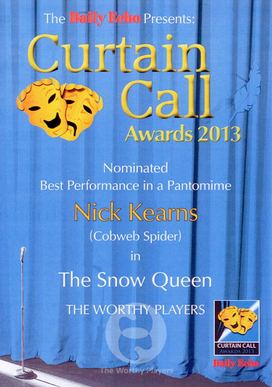 Best Performance In A Panto 2013