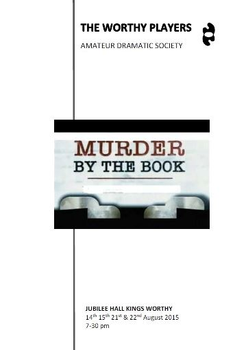 2015 Murder by the Book Programme