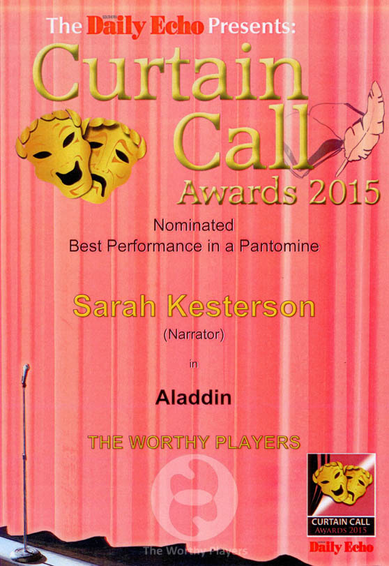 2015 Best Performance in a Pantomime